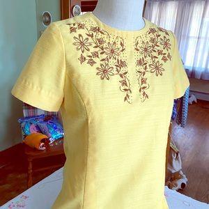 Vintage Handmade Embroidered Dress